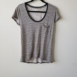 Madewell black and white striped  tee size S